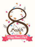 Aviador o folleto para la celebración del día de las mujeres Fotos de archivo
