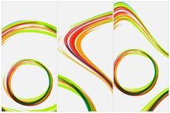 Aviador o invitación abstracto de la plantilla del vector Foto de archivo