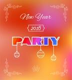 Aviador para la celebración de Eve Party de 2016 Años Nuevos Imagen de archivo