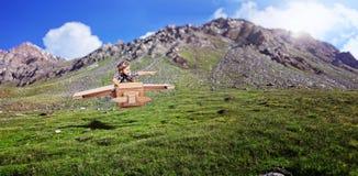 Aviador pequeno na ação Imagem de Stock
