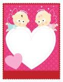 aviador/tarjeta de la tarjeta del día de San Valentín 8.5x11 Foto de archivo