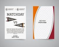 Aviador trasero del fútbol americano y delantero matchday ilustración del vector