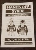 Aviadores antis de la guerra de Siria fotografía de archivo