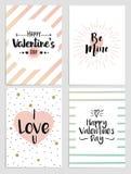 Aviadores del día de tarjetas del día de San Valentín Fotos de archivo libres de regalías