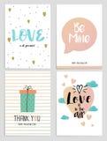 Aviadores 2 del día de tarjetas del día de San Valentín Imágenes de archivo libres de regalías