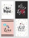 Aviadores 5 del día de tarjetas del día de San Valentín Fotos de archivo libres de regalías