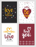 Aviadores 4 del día de tarjetas del día de San Valentín Fotos de archivo libres de regalías