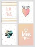 Aviadores 3 del día de tarjetas del día de San Valentín Imagenes de archivo