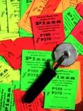 Aviadores promocionales del negocio de la pizza Imagen de archivo libre de regalías