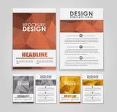 Aviadores y folletos del diseño poligonales Fotografía de archivo