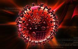 Avian Virus. Digital illustration of avian virus in colour background vector illustration