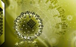 Avian Virus. Digital illustration of avian virus in colour background royalty free illustration