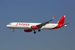 Avianca Airbus A321 airplane Stock Photos