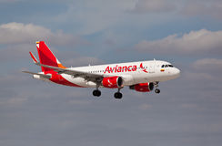 Avianca Airlines Airbus A320 landing Stock Photo
