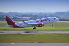 Avianca-Fluglinien Stockbild
