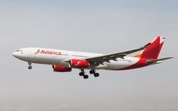 Avianca flygbuss A330 Fotografering för Bildbyråer