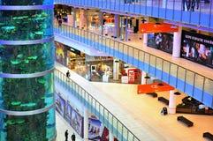 Aviapark购物中心,莫斯科,俄罗斯 免版税图库摄影