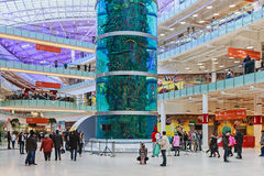 Aviapark - shopping and entertainment, located in Moscow. Moscow, Russia - November 30, 2014: Aviapark, shopping and entertainment, located in Moscow, Russia Royalty Free Stock Photos
