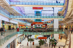 Aviapark-shopping and entertainment, located in Moscow. Moscow, Russia - November 30,2014:Aviapark-shopping and entertainment, located in Moscow.The total area Royalty Free Stock Image