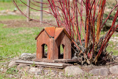 Aviario di legno di Brown Fotografia Stock Libera da Diritti