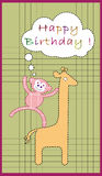 Aviateur d'anniversaire Image stock