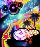 Aviateur de disco pour l'événement tropical de musique illustration de vecteur