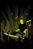 Aviateur ou affiche de réception avec le DJ Image libre de droits