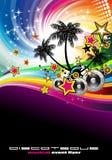 Aviateur tropical de disco d'événement de musique Photo libre de droits