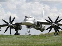 Aviation. Russian airforce rocket bomber TU-95 Stock Images