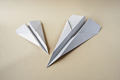 Aviation. Two paper airplane  studio shot Stock Photography
