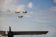 Aviation acrobatics Royalty Free Stock Image