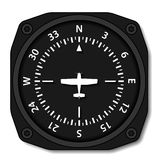 Aviation aircraft compass turns Royalty Free Stock Image