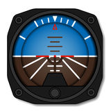 Aviation airplane attitude indicator - artificial gyroscope horizon Royalty Free Stock Photo