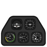 Aviation airplane glider dashboard Stock Images