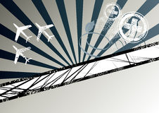Aviation background. A background with an aviation and airplane theme Stock Photography