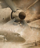 Aviation background. Aviation collage in grunge style Stock Image