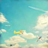 Aviation background. In vintage style Stock Images