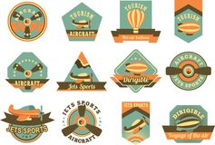 Aviation badges Stock Photography