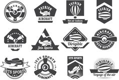Aviation badges Stock Photos