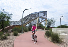 Aviation Bikeway and Rattlesnake Bridge, Tucson, Arizona Stock Photo