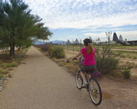 Aviation Bikeway, Tucson, and the Davis Monthan Boneyard Stock Photos