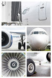 Aviation collage Royalty Free Stock Photos