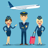 Aviation Crew Members Royalty Free Stock Images