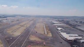 Aviation festival stunt parachutes landing stock video footage