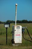 Aviation fuel pump. On air strip on isolated island Royalty Free Stock Images