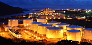 Aviation Fuel Tank Farm Royalty Free Stock Images