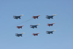 Aviation group on parade Stock Images