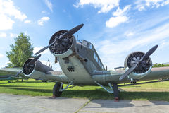 Aviation history. Historic aircraft used in army in Second World War Stock Photography