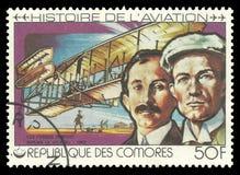 Aviation History, Wright brothers royalty free stock photos