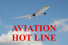 Aviation Hot Line - business concept Royalty Free Stock Photos